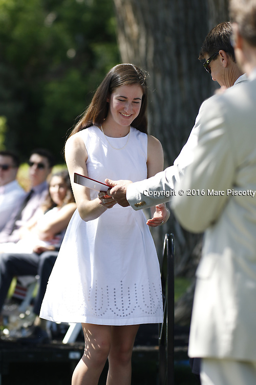 SHOT 6/2/16 9:27:55 AM - Colorado Academy Class of 2016 Commencement ceremonies at the Denver, Co. private school. The school graduated 88 seniors this year and the event capped a week filled with awards, tributes, and celebrations for the outgoing senior class. (Photo by Marc Piscotty / © 2016)