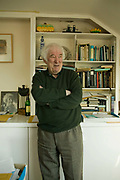 "Seamus Heaney, Nobel prize winning Poet, at home photographed shortly before the launch of his latest collection of poems ""District and Circle "". Seamus died August 30, 2013."
