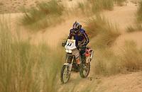 Motor - Motorsykkel. Paris-Dakar 2002. Pål Anders Ullevålseter fra Norge.<br />Foto: Eric Vargiolu, Digitalsport