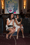 RAJNEET SIDHU; POOJA SHAH, Cocktails with Marilyn, viewing of photographs of Marilyn Monroe by Bert Stern, Eve Arnold, Douglas Kirkland, and Frank Worth presented by Zebra One Gallery. The Langham, London.