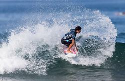 July 31, 2018 - Huntington Beach, California, United States - Huntington Beach, CA - Tuesday July 31, 2018: Miguel Pupo in action during a World Surf League (WSL) Qualifying Series (QS) Men's round of 96 heat at the 2018 Vans U.S. Open of Surfing on South side of the Huntington Beach pier. (Credit Image: © Michael Janosz/ISIPhotos via ZUMA Wire)