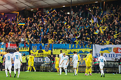 Ukraine team scores goal during the UEFA EURO 2016 Play-off for Final Tournament, Second leg between Slovenia and Ukraine, on November 17, 2015 in Stadium Ljudski vrt, Maribor, Slovenia. Photo by Ziga Zupan / Sportida