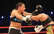 Boxen: WBA-World Championship, Flytweight, Dortmund, 06.07.2013<br /> Susi Kentikian (GER, l.) - Carina Moreno (USA)<br /> ©Torsten Helmke
