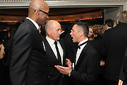 ED MOSES;  FRANKIE DETTORI; ; BARRY MCGUIGAN; , Horse racing jockey Frankie Dettori, track and field athlete Ed Moses and boxer Barry McGuigan , The Cartier Racing Awards. The Ballroom, Dorchester hotel. Park Lane. London. 15 November 2011. <br /> <br />  , -DO NOT ARCHIVE-© Copyright Photograph by Dafydd Jones. 248 Clapham Rd. London SW9 0PZ. Tel 0207 820 0771. www.dafjones.com.