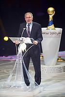 Håndball<br /> Frankrike v Qatar<br /> Finale VM 2015<br /> 01.02.2015<br /> Foto: imago/Digitalsport<br /> NORWAY ONLY<br /> <br /> Frankreich ist Weltmeister IHF Präsident Hassan Moustafa