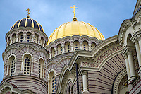RIGA, LATVIA - CIRCA June 2014: Architectural detail of The Nativity of Christ Cathedral in Riga