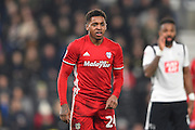 Cardiff City midfielder Kadeem Harris (24)  during the EFL Sky Bet Championship match between Derby County and Cardiff City at the Pride Park, Derby, England on 14 February 2017. Photo by Jon Hobley.