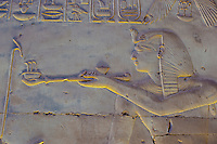 Hieroglyphics, Temple of Seti I, Abydos, Egypt