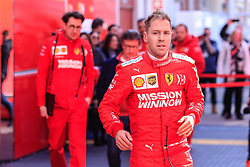 February 18, 2019 - Montmelo, BARCELONA, Spain - Sebastian Vettel from Germany with 05 Scuderia Ferrari Mission Winnow SF90 portrait during the Formula 1 2019 Pre-Season Tests at Circuit de Barcelona - Catalunya in Montmelo, Spain on February 18. (Credit Image: © AFP7 via ZUMA Wire)