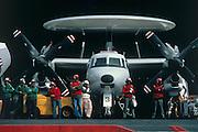 E-2C Hawkeye on deck