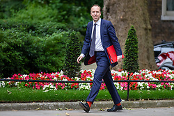 © Licensed to London News Pictures. 05/06/2018. London, UK. Secretary of State for Culture, Media and Sport Matt Hancock arrives on Downing Street for the Cabinet meeting. Photo credit: Rob Pinney/LNP