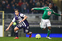Oscar Trejo / Landry N'GUEMO - 28.02.2015 - Toulouse / Saint Etienne - 27eme journee de Ligue 1 -<br />Photo : Manuel Blondeau / Icon Sport