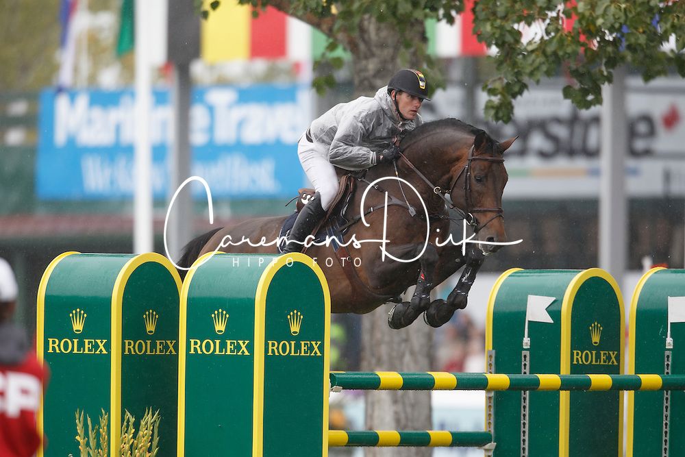 Wathelet Gregory, (BEL), Conrad de Hus <br /> CP International Grand Prix presented by Rolex<br /> Spruce Meadows Masters - Calgary 2015<br /> © Hippo Foto - Dirk Caremans<br /> 13/09/15