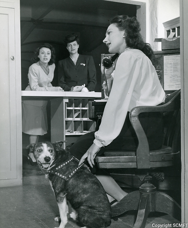 1940 Receptionist on the phone at the Hollywood Studio Club on Lodi Pl.