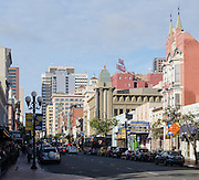 Downtown San Diego at the Gaslamp District