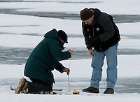 Winter Under Ice Dissolved Oxygen Level Measurement at Lilly Lake, Rocky Mountain National Park, Colorado. Image taken with a Nikon D300 and 300 mm f/2.8 lens (ISO 200, 300 mm, f/8, 1/500 sec)