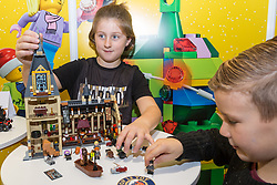 Lego's Harry Potter Hogwarts Grand Hall  will retail at 89.99. Ahead of Christmas the Dream Toys exhibition at St Mary's Church in Marylebone, London showcases the hottest toys in the market including the top twelve. London, November 14 2018.