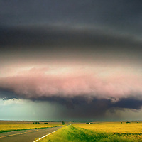 Updraft of a supercell thunderstorm in central Kansas.