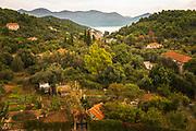 View from the Church of the Holy Spirit, Sipan Island, Dalmatian Coast, Croatia