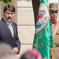 Janos Ader newly elected president of Hungary takes his office during his official inauguration ceremony in Budapest, Hungary on May 10, 2012. ATTILA VOLGYI