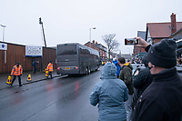 Football - 2020 / 2021 Emirates FA Cup - Round Three - Marine v Tottenham Hotspur - Rossett Park<br /> <br /> Marine FC fans wait for the teams to arrive outside Rosset Park.<br /> <br /> COLORSPORT/TERRY DONNELLY