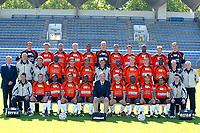 Fotball<br /> Frankrike 2003/2004<br /> Foto: Digitalsport<br /> NORWAY ONLY<br /> <br /> FOOTBALL - FRENCH CHAMPIONSHIP L2 -  2003/2004 - FC LORIENT PRESENTATION - 030915 - TEAM LORIENT (1ST ROW LEFT TO RIGHT : HERVE GUEGAN (COACH ASSIST) / PASCAL BEDROSSIAN / BAKARY KONE / JEREMY MOREL / ANTONIN KOUTOUAN / MARCEL LE MENTEC (PDT) / STEPHANE PEDRON / TCHIRESSOUA GUEL / MARC BOUTRUCHE / NICOLAS ESCETH N'ZI / JULIEN FRESNAUD (KINE) . 2ND ROW : MICHEL LE GAL (STAFF) / SYLVAIN RIPOLL (COACH ASSIST) / PATRICK L'HOSTIS (GOAL-KEEPER COACH) / MALICK DIOP / CHRISTOPHE BASTIEN / PATRICE LOKO / CHRISTIAN GOURCUFF (COACH) / ELIE KROUPI / DAVID BOUARD / VINCENT GRAGNIC / OUSMANE TRAORE / VINCENT DETAILLE (KINE) / BERNARD GAU (KINE) ; 3RD ROW : STEPHANE LE GARREC / CEDRIC CHABERT / RICHARD MARTINI / CHRISTOPHE COUE / LUDOVIC VILTARD / JEROME LE FLOCH / JORIS MARVEAUX / ANTHONY GAUVIN / LUIS ROBSON / GUILLAUME NORBERT / FABIEN AUDARD ) - PHOTO PIERRE MINIER *** Local Caption *** 40000857