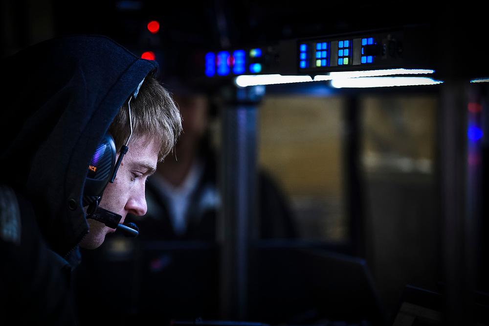Oliver Askew, Arrow McLaren SP Chevrolet, engineer<br /> 2/12/2020<br /> IndyCar Preseason Open Test<br /> Circuit of the Americas<br /> Austin, TX USA