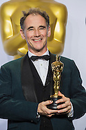 """88th Academy Awards press room.<br /> Mark Rylance, winner of best actor in a supporting role for the film """"Bridge of Spies."""""""