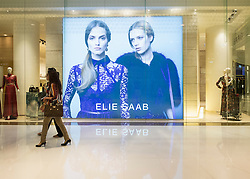 view of Elie Saab fashion boutique inside Dubai Mall in United Arab Emirates