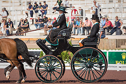 Misdee Wrigley Miller, (USA), Agusstos Armoei, Beau, Carlos, Clemens, Saco - Driving dressage - Alltech FEI World Equestrian Games™ 2014 - Normandy, France.<br /> © Hippo Foto Team - Dirk Caremans<br /> 04/09/14
