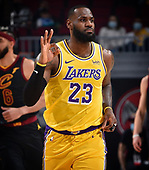 January 25, 2021 (OH): NBA Los Angeles Lakers v Cleveland Cavaliers Game