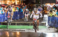 03.08.2012, Kaprun, AUT, Bike Infection, XC BATTLE, im Bild Nicola Rohrbach (SUI) davor rechts Simon Gegenheimer (GER). EXPA Pictures © 2012, PhotoCredit: EXPA/ Juergen Feichter