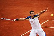 Paris, France. Roland Garros. May 29th 2013.<br /> Latvian player Ernests GULBIS against Gael MONFILS