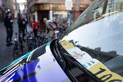 CANYON//SRAM Racing vehicles parked near the Amstel Gold Race - Ladies Edition - a 126.8 km road race, between Maastricht and Valkenburg on April 21, 2019, in Limburg, Netherlands. (Photo by Balint Hamvas/Velofocus.com)