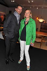 Count & Countess Manfredi della Gherardesca at the Private View of the Pavilion of Art & Design London 2011 held in Berkeley Square, London on 10th October 2011.