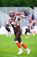KELOWNA, BC - SEPTEMBER 8:  Wide receiver Garion Miller #24 of Okanagan Sun warms up on the field against the Langley Rams  at the Apple Bowl on September 8, 2019 in Kelowna, Canada. (Photo by Marissa Baecker/Shoot the Breeze)