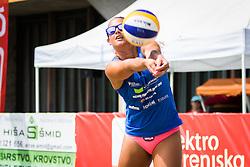 Monika Potokar of Sberbank during Qlandia Beach Challenge 2015 and Beach Volleyball Slovenian National Championship 2015, on July 25, 2015 in Kranj, Slovenia. Photo by Ziga Zupan / Sportida