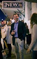 07 November 2013. New Orleans, Louisiana. <br /> Jonathan Ferrara hosts the 8th annual ARTDOCS auction at the Art Klub. The event raises tens of thousands of dollars to provide healthcare to underinsured and uninsured artists lacking heath care in the region. <br /> Photo; Charlie Varley