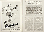 All Ireland Senior Hurling Championship Final,.Brochures,.07.09.1947, 09.07.1947, 7th September 1947,.Kilkenny 0-14, Cork 2-7,.Minor Galway v Tipperary, .Senior Kilkenny v Cork, .Croke Park,..Advertisements, Hallidays Football Boots, ..Articles, Cork's 7 Years of Plenty,