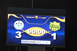 October 25, 2017 - Tours, France - score final - ecran geant (Credit Image: © Panoramic via ZUMA Press)