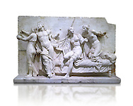 Roman Relief panal from the Museum of Archaeology, Italy ..<br /> <br /> If you prefer to buy from our ALAMY STOCK LIBRARY page at https://www.alamy.com/portfolio/paul-williams-funkystock/greco-roman-sculptures.html . Type -    Naples    - into LOWER SEARCH WITHIN GALLERY box - Refine search by adding a subject, place, background colour, museum etc.<br /> <br /> Visit our ROMAN WORLD PHOTO COLLECTIONS for more photos to download or buy as wall art prints https://funkystock.photoshelter.com/gallery-collection/The-Romans-Art-Artefacts-Antiquities-Historic-Sites-Pictures-Images/C0000r2uLJJo9_s0