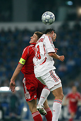 Athens, Greece - Wednesday, May 23, 2007: Liverpool's Steven Gerrard and AC Milan's Marek Jankulovski during the UEFA Champions League Final at the OACA Spyro Louis Olympic Stadium. (Pic by Propaganda)
