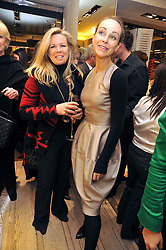 COUNTESS CLARE EMO-CAPODILISTA and ELAINE SULLIVAN at a Champagne & chocolate party hosted by Roger Vivier at their store in Sloane Street, London on 12th February 2009.  The evening was in aid of The Silver Lining charity.