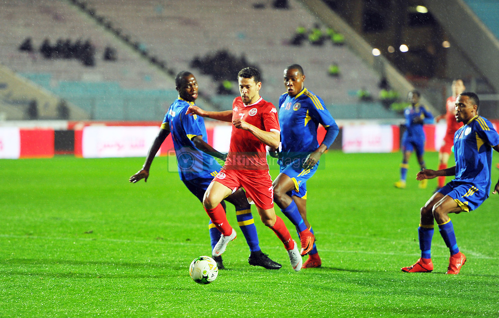 March 22, 2019 - Rades, Tunisia - Youssef Msakni(7) of Tunisia during the Match Tunisia vs Eswatini at the Rades Olympic stadium in the last qualifying round of the 2019 African Nations Cup finals vs. Tun vs Eswatini 4/0. (Credit Image: © Chokri Mahjoub/ZUMA Wire)
