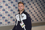 AFC Wimbledon goalkeeper George Long (1) arriving during the The FA Cup 3rd round match between Tottenham Hotspur and AFC Wimbledon at Wembley Stadium, London, England on 7 January 2018. Photo by Matthew Redman.