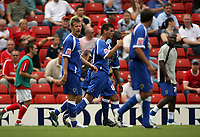 Photo: Rich Eaton.<br /> <br /> Barnsley v Cardiff City. Coca Cola Championship.<br /> <br /> 05/08/2006.  Joe Ledley #16 celebrates his goal for Cardiff City