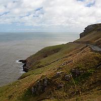 Europe, United Kingdom, Wales. The Great Orme Heritage Coast road, Wales.
