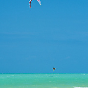 Paragliding in Holbox Island.