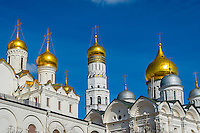 Golden Cupoles in the Moscow Kremlin