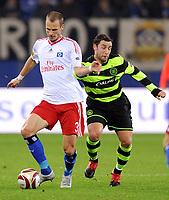 v.l. David Rozehnal HSV, Scott McDonald<br /> Europa League Hamburger SV - Celtic Glasgow<br /> <br /> Norway